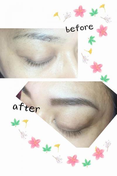 紋繡眉毛 讓稀疏的眉毛增添不少光采,自然有型的呈現!更能減少畫眉的時間ㄛ⋯⋯