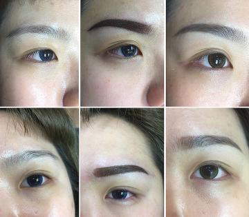紋繡眉 ㄧ個月後脫落呈現的自然眉色