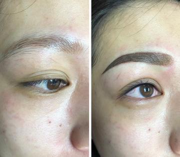 隱形眼線 韓式粉霧眉加隱形內眼眉瞳線